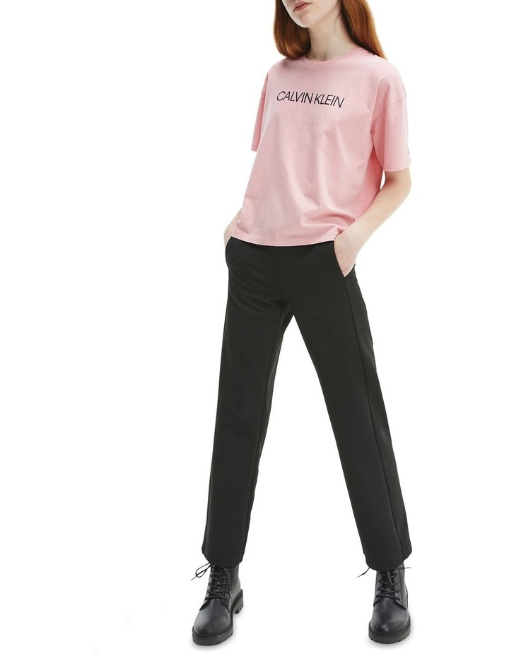 Logo Organic Cotton Boxy T-Shirt Pink image 2