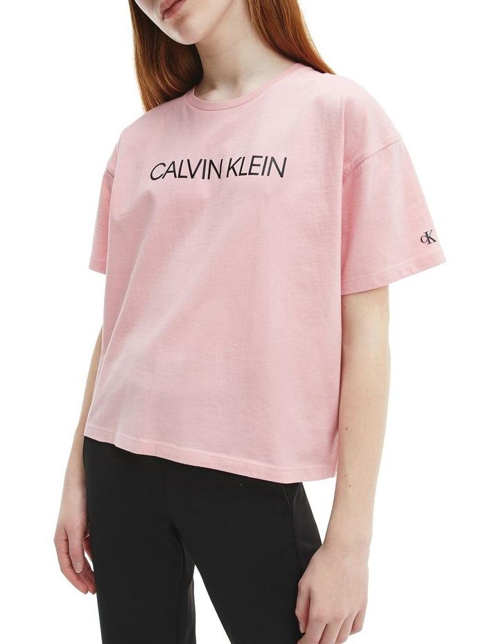 Logo Organic Cotton Boxy T-Shirt Pink image 3