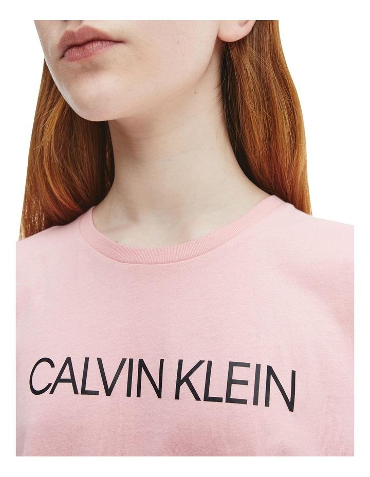 Logo Organic Cotton Boxy T-Shirt Pink image 4