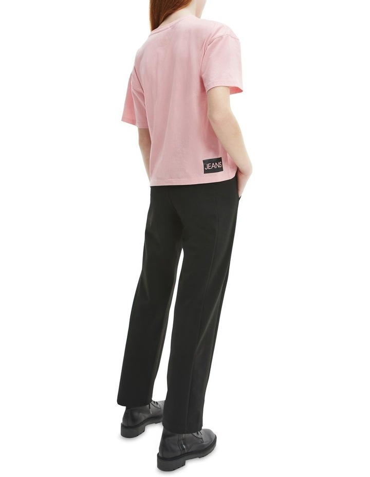 Logo Organic Cotton Boxy T-Shirt Pink image 5