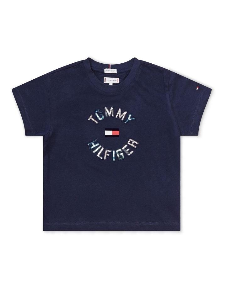 Sequin T-Shirt Navy image 1