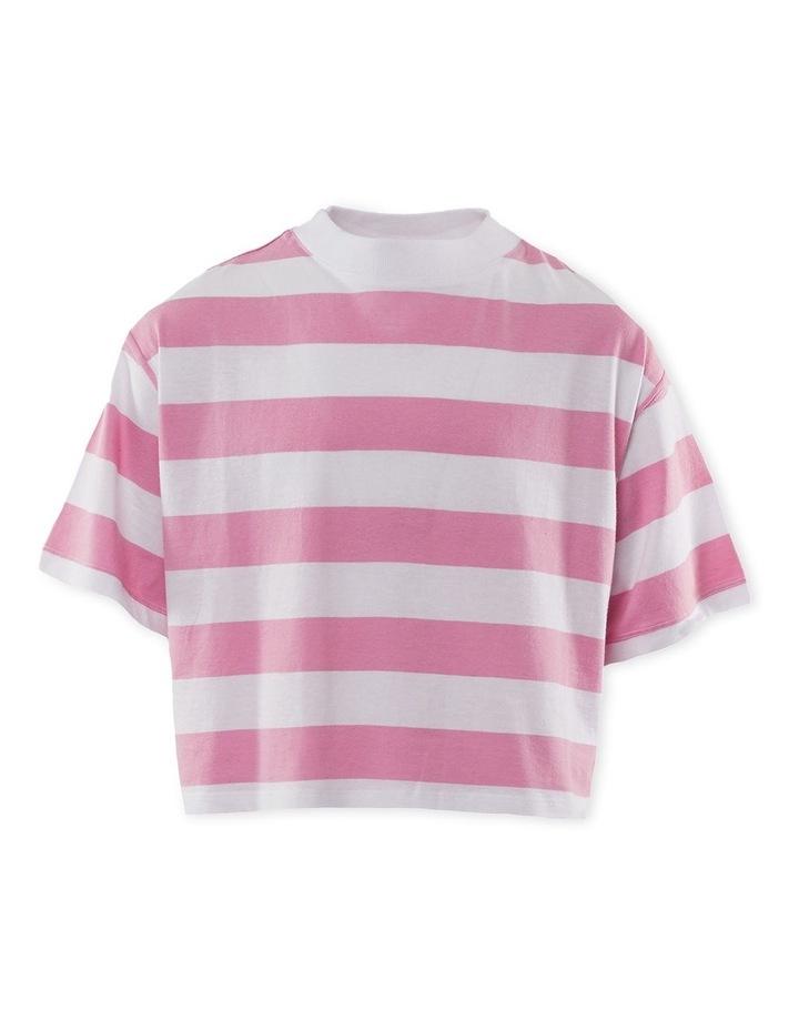 Rosie Stripe Tee 8-16 Pink image 1