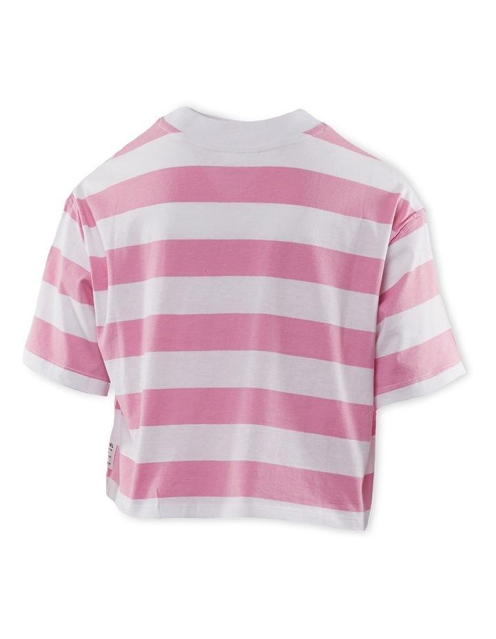Rosie Stripe Tee 8-16 Pink image 2
