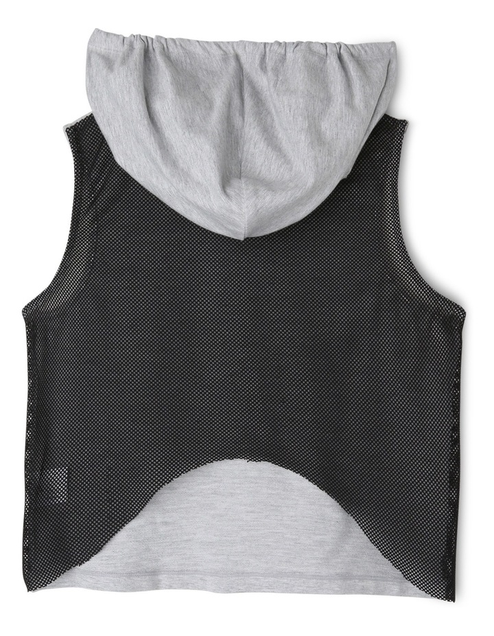 Mesh Back Crop Sleeveless Hoodie 8-14 image 2