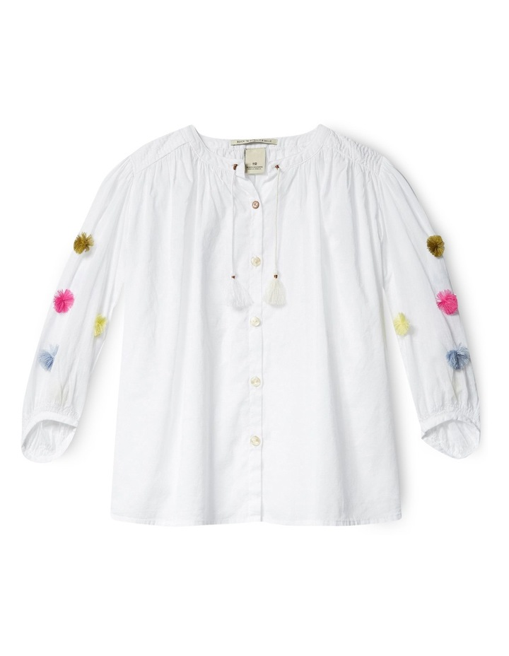 Lightweight Top With Colourful Pom Poms image 1