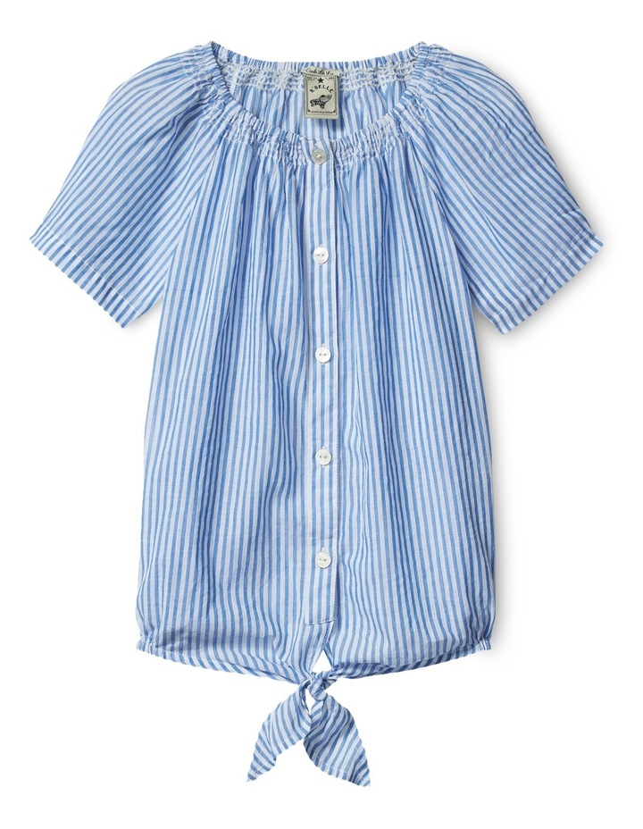 Top with Smocked Neck Line image 1