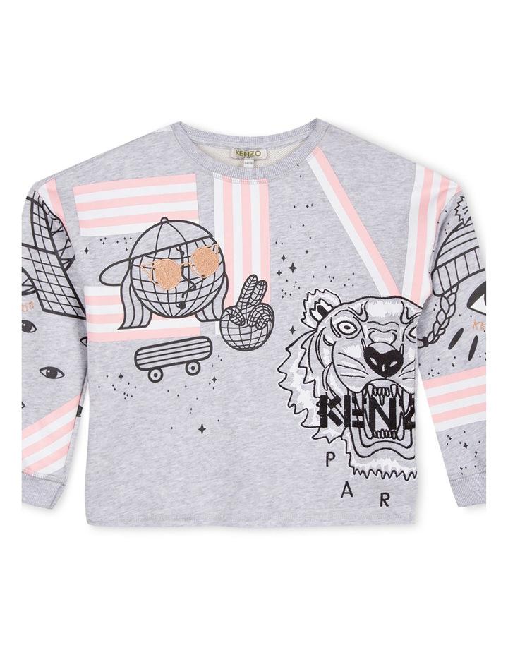 Girls Crew Neck Printed Sweat Shirt - Eda image 1