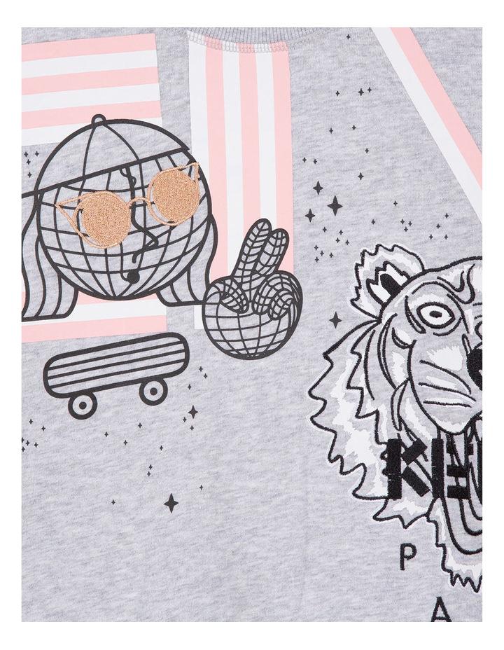 Girls Crew Neck Printed Sweat Shirt - Eda image 3