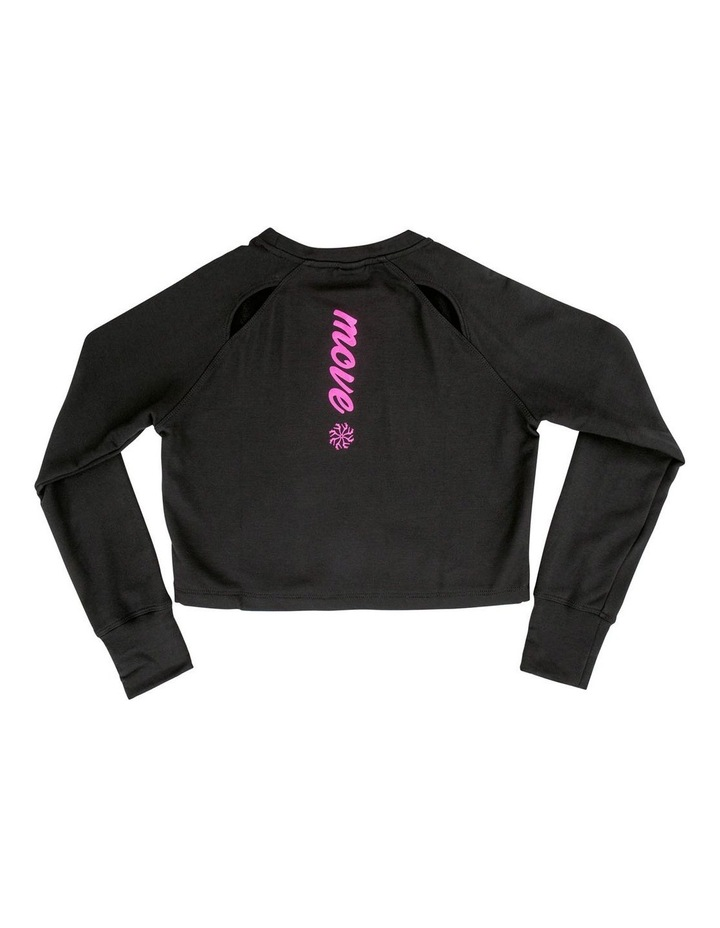 Hannah Loose Track Top With Raglan Sleeve image 2