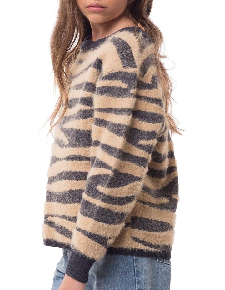 Zebra Fluffy Knit image 3