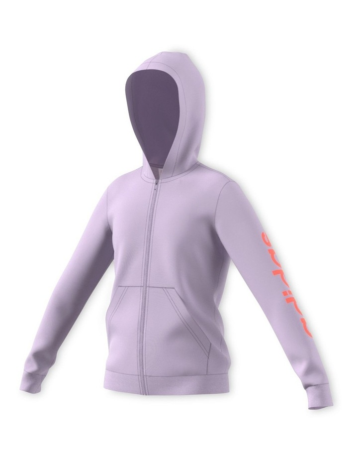 Youth Girls Essentials Linear Full Zip Hoodie image 2
