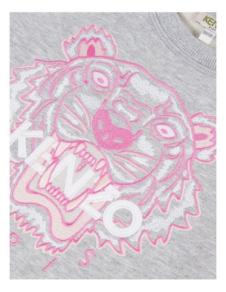 Embroidered Tiger Logo Sweat - JG B2 (8-12) image 3