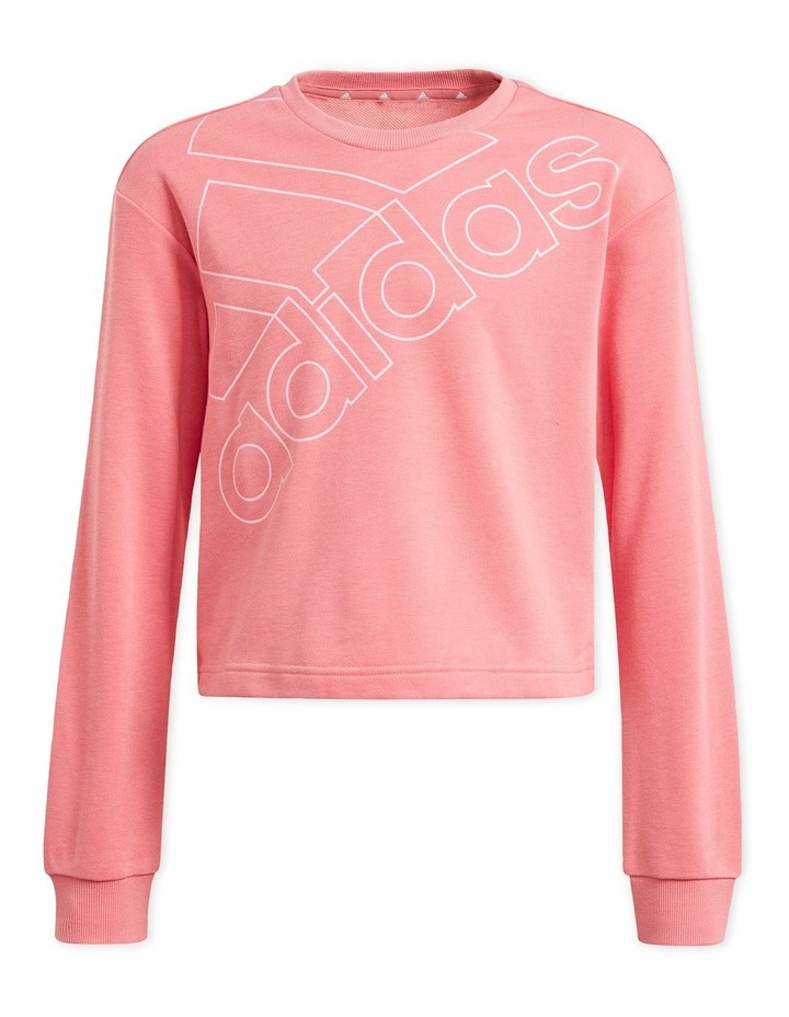 Girls Essentials Pink Logo Sweatshirt image 1