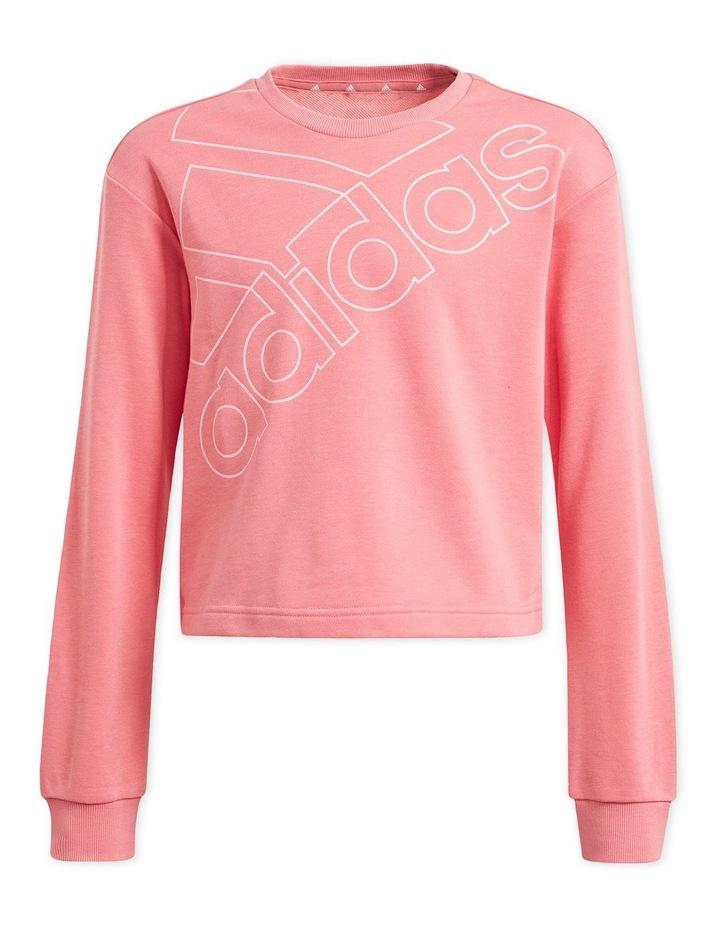 Girls Essentials Pink Logo Sweatshirt image 2