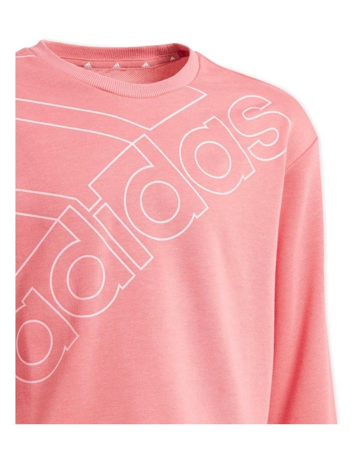 Girls Essentials Pink Logo Sweatshirt image 3