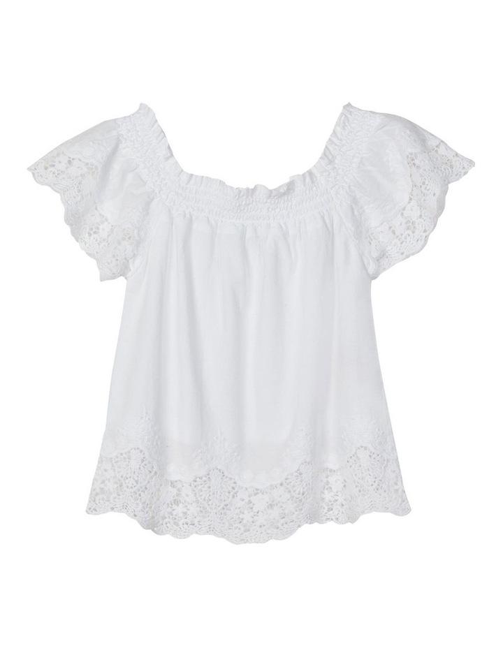 Hayla Short Sleeve Blouse Bright White image 1