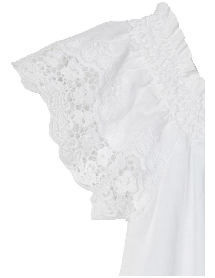 Hayla Short Sleeve Blouse Bright White image 2