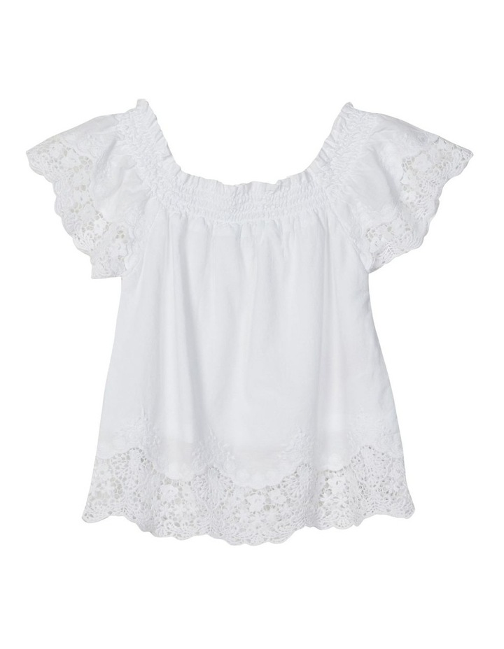 Hayla Short Sleeve Blouse Bright White image 3