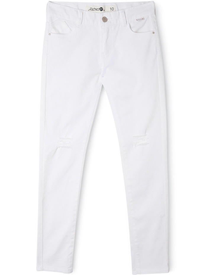 Spray-On Ripped White Out Jeans image 1