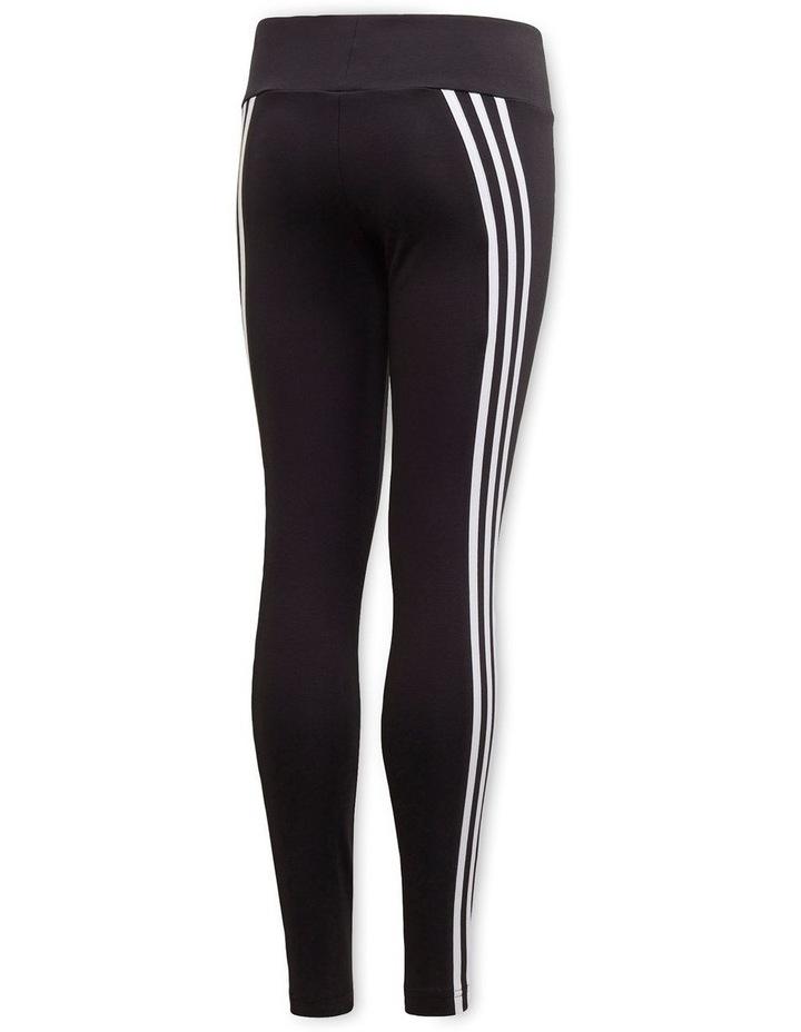 3-Stripes Cotton Tights Black image 3