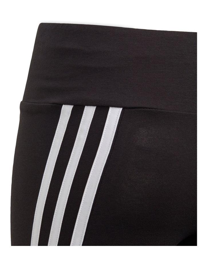 3-Stripes Cotton Tights Black image 4