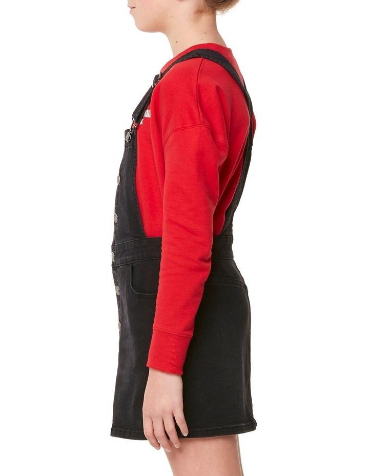 Button Thru Dungaree Dress image 2