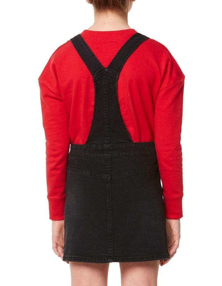 Button Thru Dungaree Dress image 3