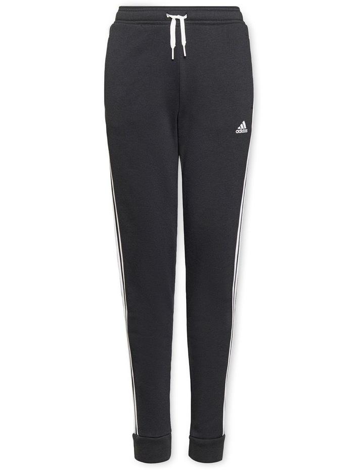 Girls Essentials 3 Stripes Fleece Pants Black image 1