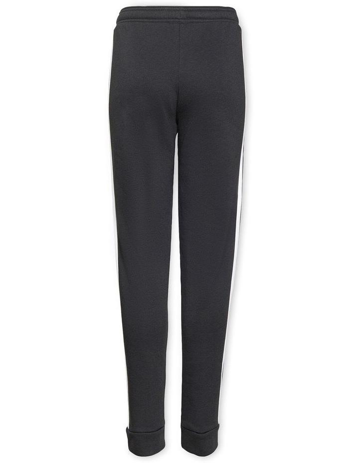 Girls Essentials 3 Stripes Fleece Pants Black image 2