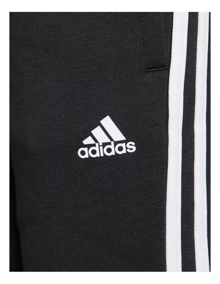 Girls Essentials 3 Stripes Fleece Pants Black image 4