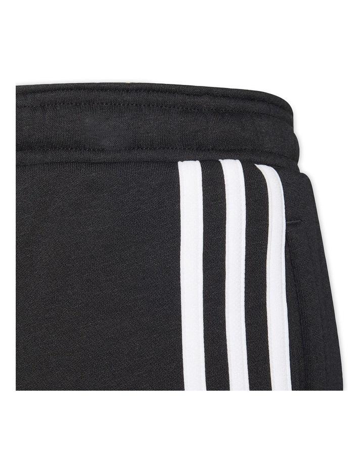 Girls Essentials 3 Stripes Fleece Pants Black image 5