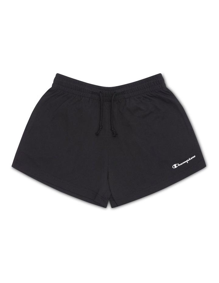 Girls Script Jersey Shorts Black image 1