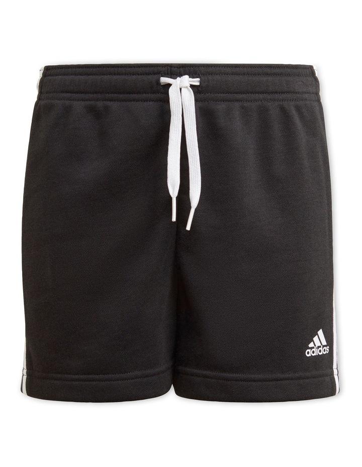 Essentials 3-Stripe Shorts Black image 1