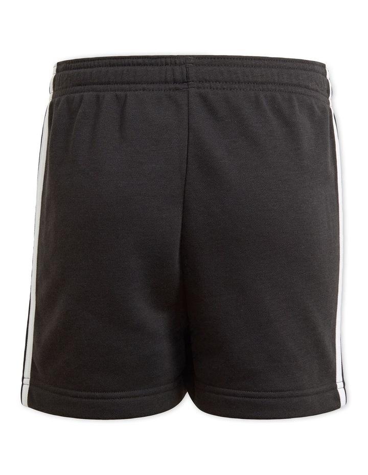Essentials 3-Stripe Shorts Black image 2