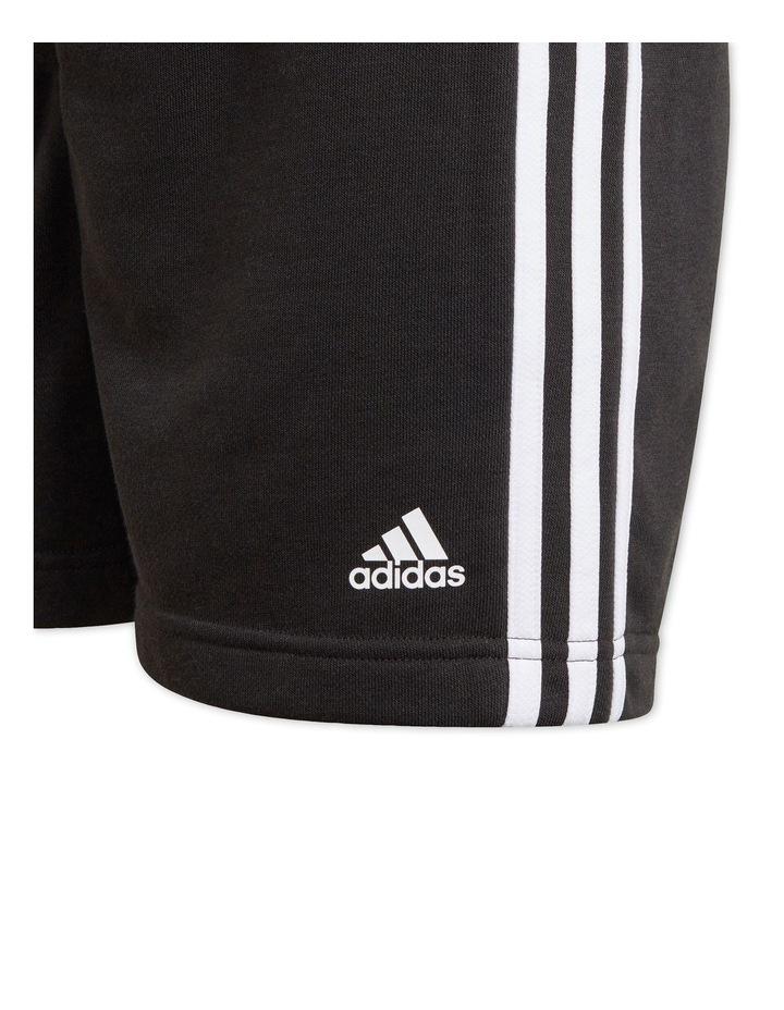 Essentials 3-Stripe Shorts Black image 3
