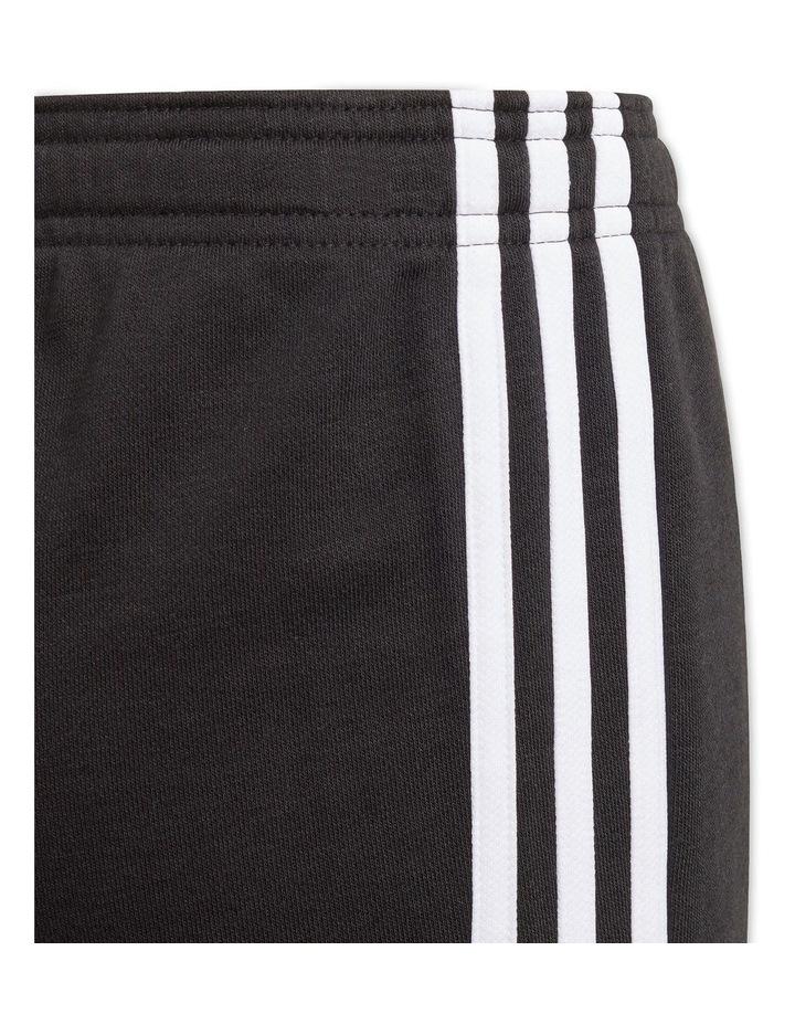 Essentials 3-Stripe Shorts Black image 4