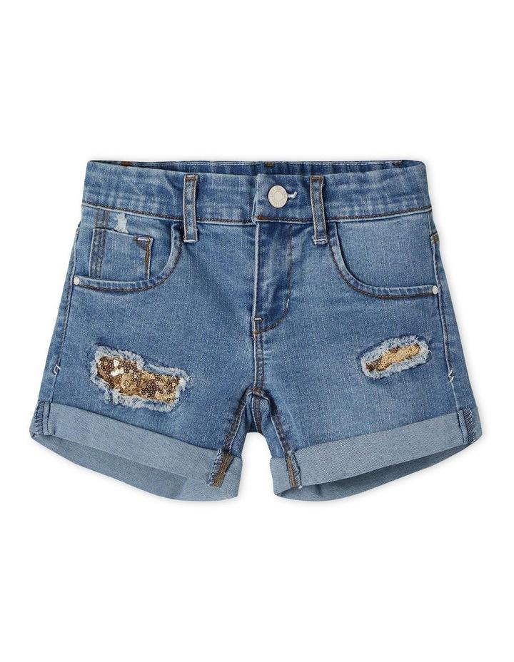 Salli Denim Shorts - Medium Blue Denim image 1