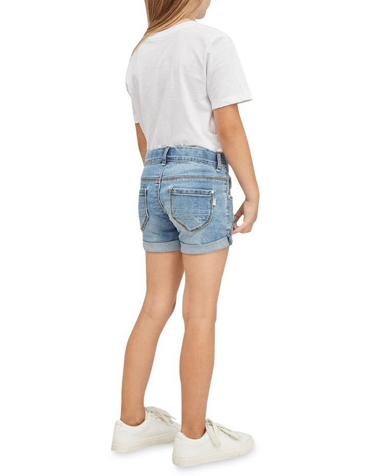 Salli Denim Shorts - Medium Blue Denim image 5