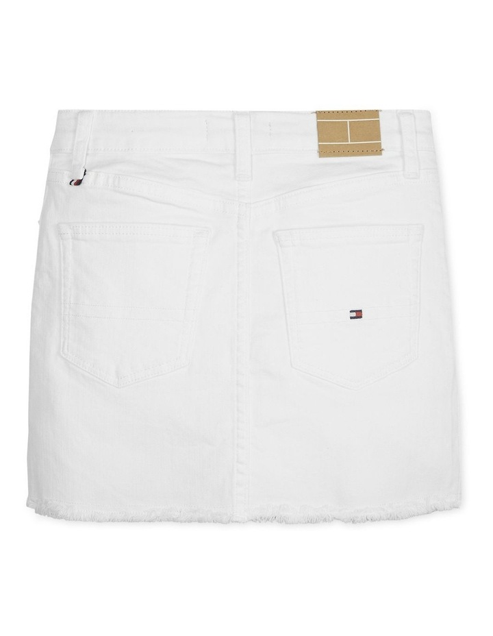 Raw Hem Denim Mini Skirt image 2