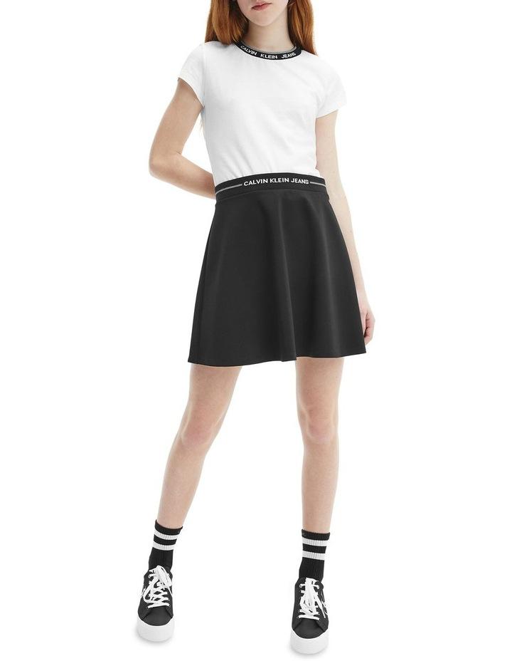 Logo Waistband Mini Skirt Black image 2