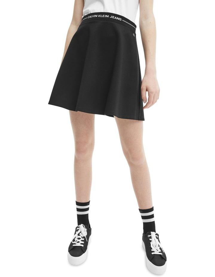 Logo Waistband Mini Skirt Black image 3