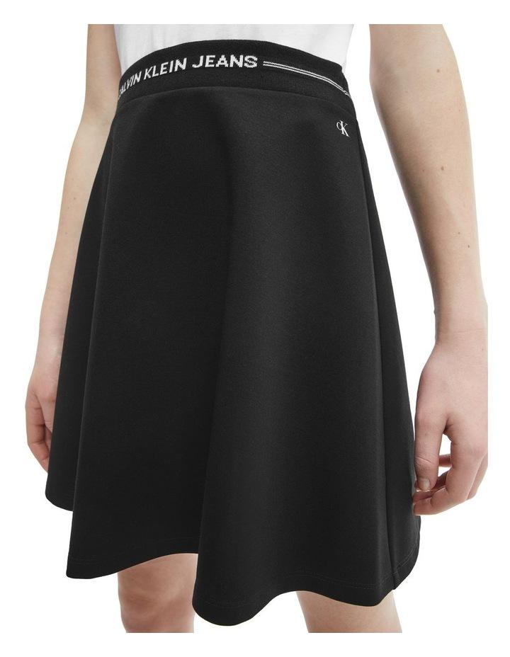 Logo Waistband Mini Skirt Black image 4