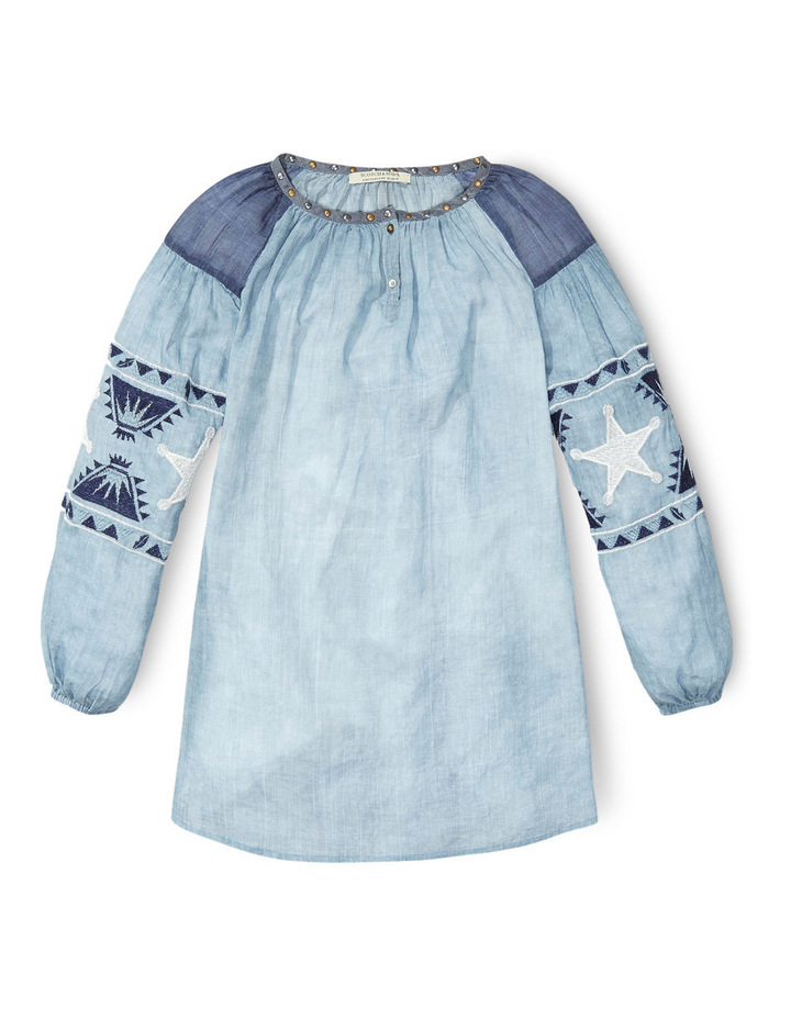 Embroidered Tunic Dress image 1