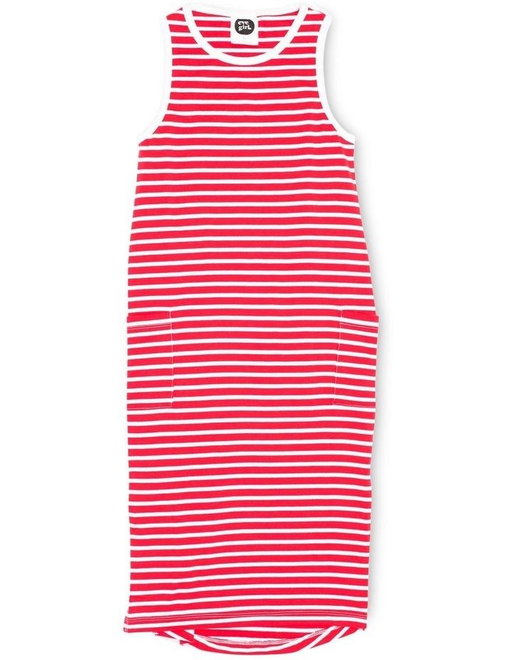 EVE GIRL 9520123 EVELYN DRESS RED & WHITE STRIPE image 1