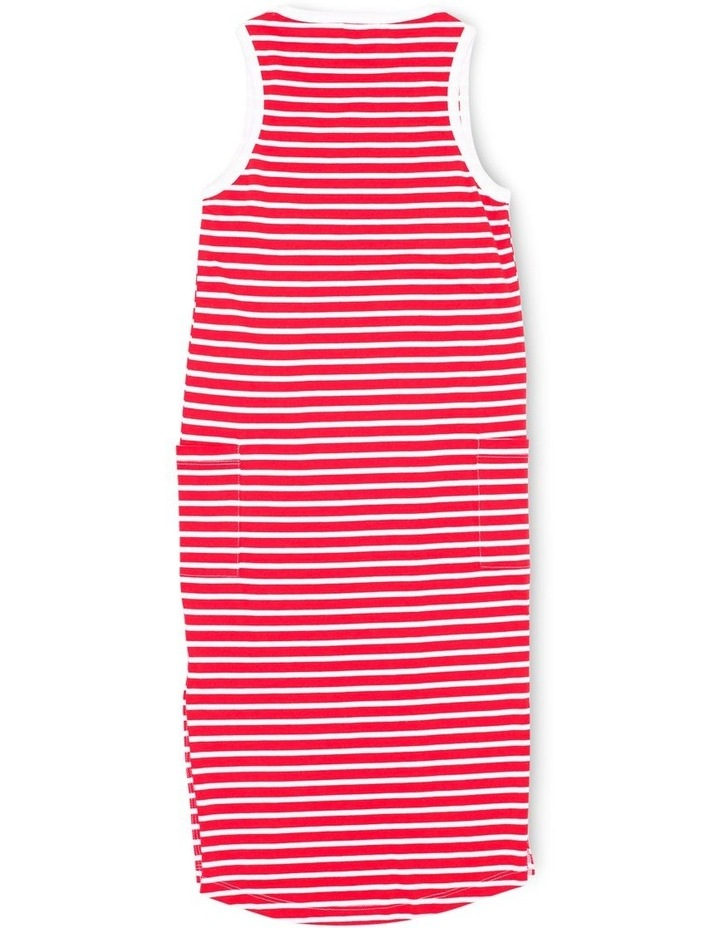 EVE GIRL 9520123 EVELYN DRESS RED & WHITE STRIPE image 2