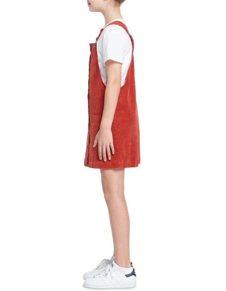 GIRLS CORD DUNGAREE DRESS image 2