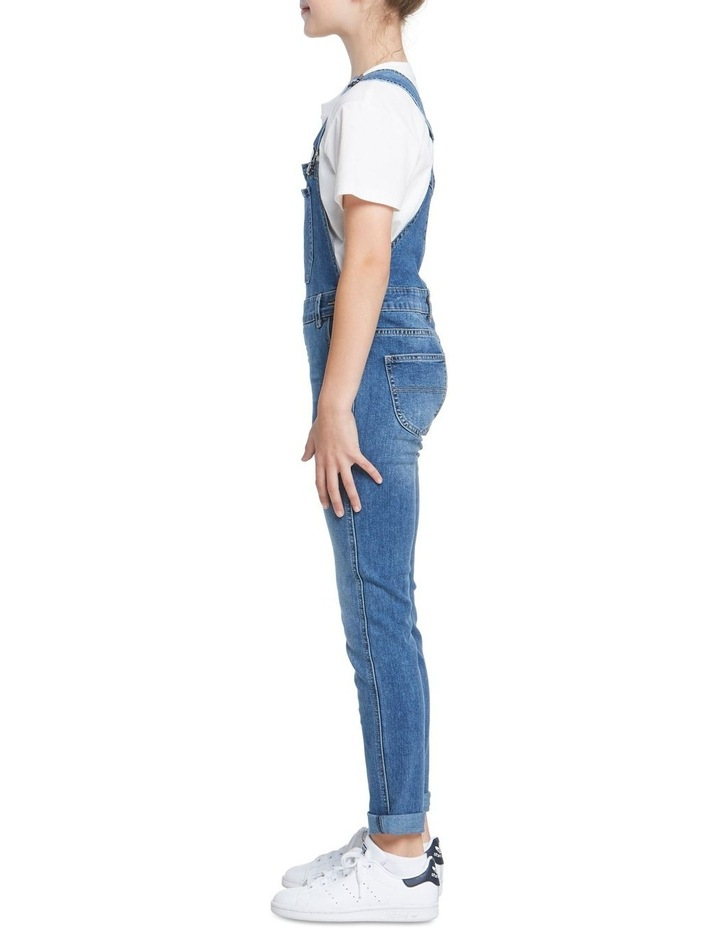 Girls Denim Dungaree image 2