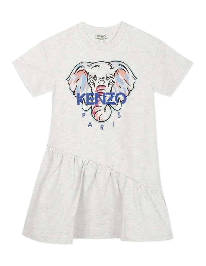 Embroidered Elephant Jersey Dress - Jacinthe (8-12) image 1