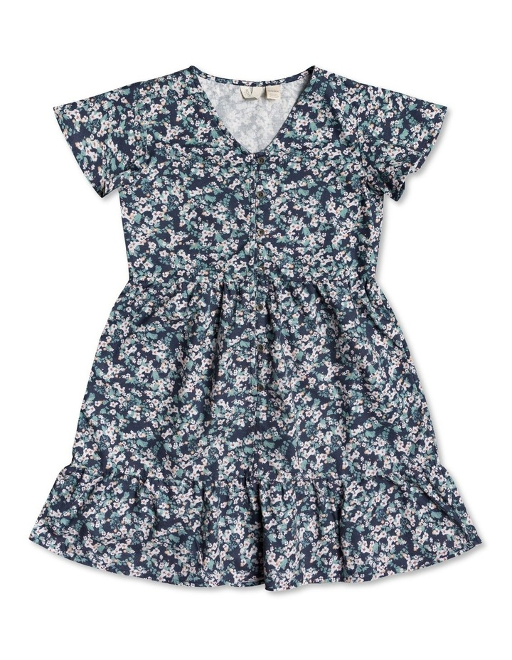 Third Of Way Short Sleeve Buttoned Dress for Girls 416 image 1