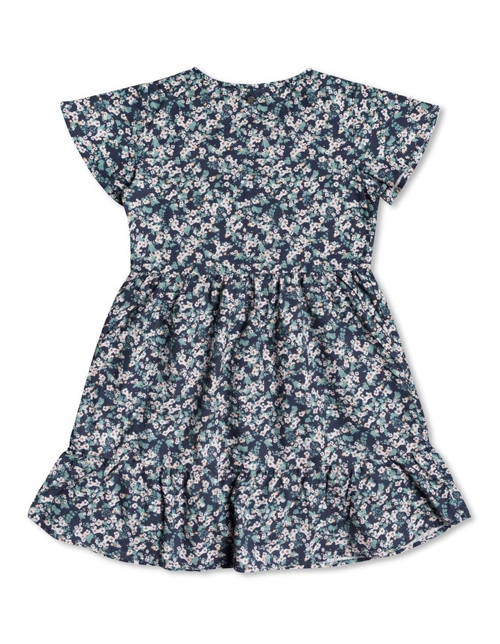 Third Of Way Short Sleeve Buttoned Dress for Girls 416 image 2